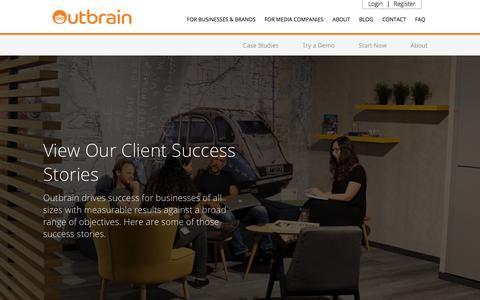 Outbrain for Advertisers- Case Studies | Outbrain.com