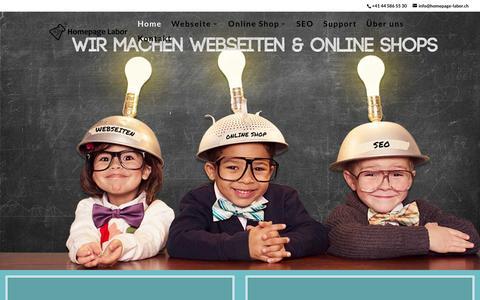 Screenshot of Home Page homepage-labor.ch - Homepage oder Online Shop jetzt erstellen lassen - captured March 23, 2016