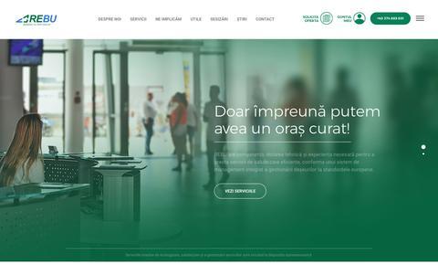 Screenshot of Home Page rebu.ro - REBU SA - captured Sept. 30, 2018