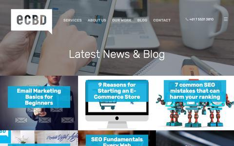 Screenshot of Blog e-cbd.com.au - e-CBD Blog - Internet Marketing & Website Advice & Topics - captured July 24, 2018