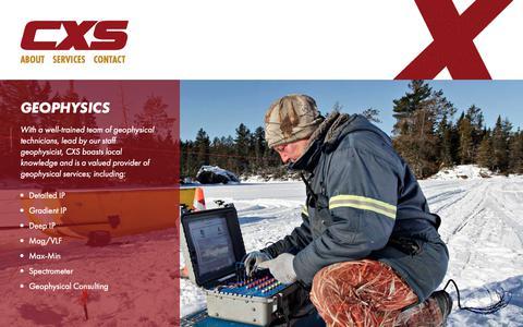 Screenshot of Services Page cxsltd.com - Services | CXS - Canadian Exploration Services Limited - captured Sept. 26, 2018