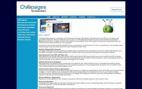 Screenshot of About Page chillipages.com - Web Design India, Website Design India, Web Design Firm, Web Design Mangalore - captured March 18, 2016