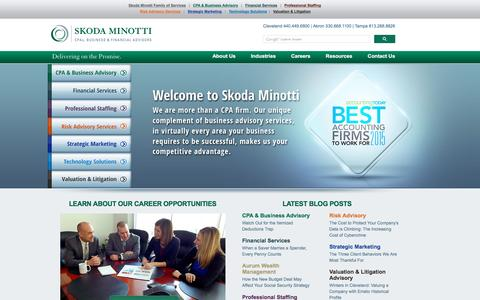 Screenshot of Home Page skodaminotti.com - Skoda Minotti | CPAs, Business and Financial Advisors | Cleveland, Akron, Tampa - captured Dec. 14, 2015