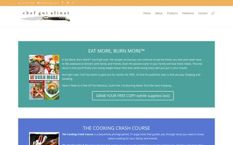 Screenshot of Products Page chefgui.com - Products | chef gui alinat - captured Jan. 27, 2016