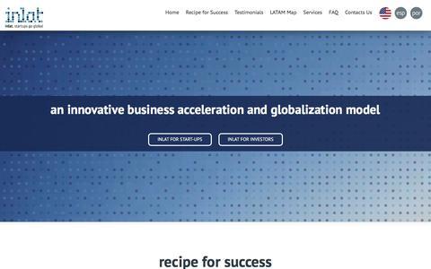 Screenshot of Services Page Testimonials Page inlat.biz - inlat   startups go global - captured Dec. 15, 2015