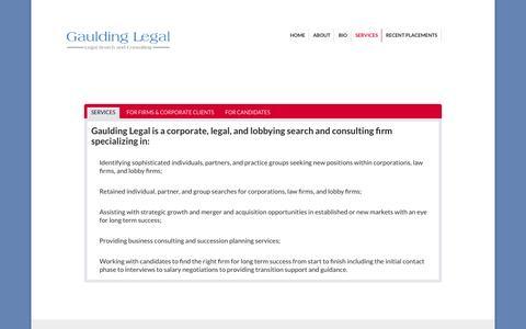 Screenshot of Services Page gauldinglegal.com - Services | Legal Portfolio - captured Nov. 5, 2014