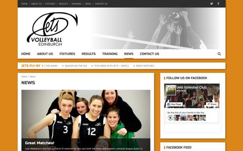 Screenshot of Press Page jetsvc.co.uk - Jets Volleyball Club News - Jets Volleyball Club - captured Dec. 26, 2016