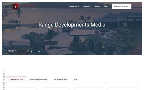 Screenshot of Press Page rangedevelopments.com - Range Developments Media Coverage - captured Oct. 20, 2018