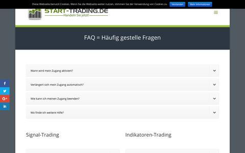 Screenshot of FAQ Page start-trading.de - FAQ = häufig gestellte Fragen | start-trading.de - captured Oct. 3, 2018