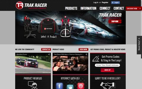 Screenshot of Home Page trakracer.com.au - Home page - captured Sept. 30, 2014