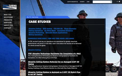 Screenshot of Case Studies Page thrutubing.com - Why Thru Tubing Solutions - Case Studies - captured Dec. 2, 2016