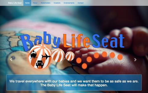 Screenshot of Home Page babylifeseat.com - Infant Safety For Traveling | The Baby Life Seat - captured Feb. 7, 2016