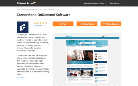 Cornerstone OnDemand Software - 2017 Reviews & Pricing