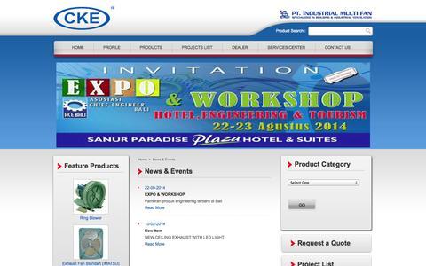 Screenshot of Press Page cke.co.id - CKE, Multi Fan - captured Oct. 4, 2014