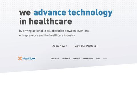 Screenshot of Home Page healthbox.com - Healthbox - captured Jan. 14, 2015