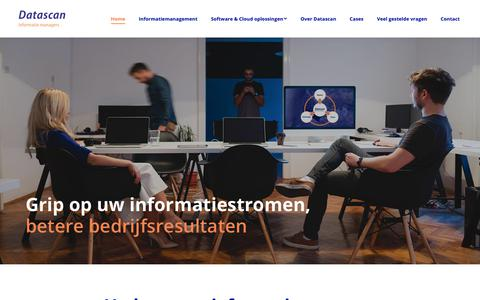 Screenshot of Home Page datascan.nl - Grip op uw informatiestromen & workflows | Datascan Informatie Managers - captured Oct. 7, 2018