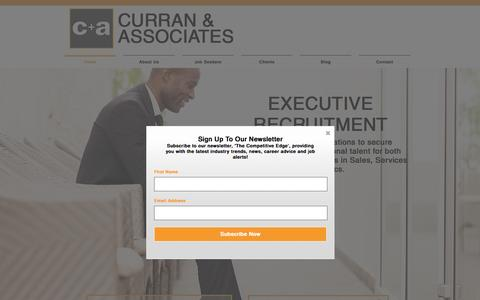 Screenshot of Home Page curranrecruit.com.au - Curran and Associates Pty Ltd - captured Feb. 2, 2016