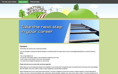 Screenshot of Jobs Page watnallwebsites.co.uk - Careers | Watnall Websites - captured Oct. 27, 2014