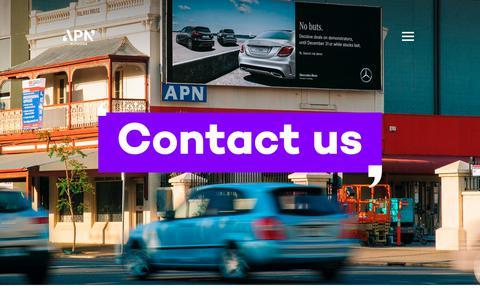 Screenshot of Contact Page apnoutdoor.com.au - APN Outdoor - Contact - captured Oct. 13, 2018