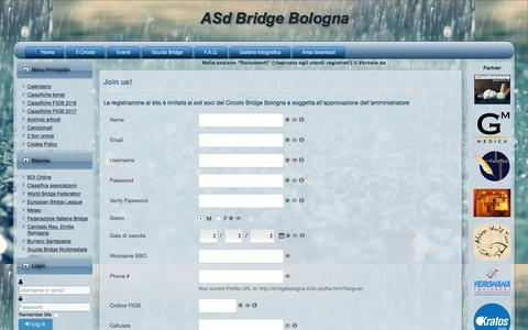 Screenshot of Signup Page bridgebologna.it - Sign up - ASdBB - captured March 19, 2017