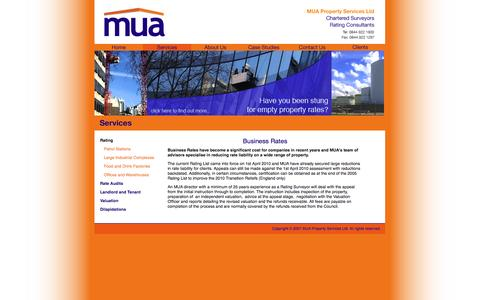 Screenshot of Services Page mua.co.uk - MUA Property Services Ltd - Services - captured Oct. 4, 2014