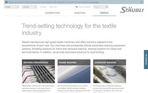 Textile machinery solutions - Stäubli