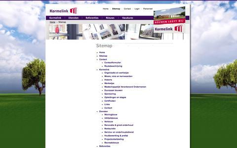Screenshot of Site Map Page kormelinkbouw.nl - Sitemap - Kormelink bouw - captured Oct. 4, 2014