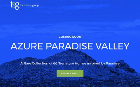 Screenshot of Home Page thesolveregroup.com - The Solvere Group | real estate solution - captured June 15, 2017