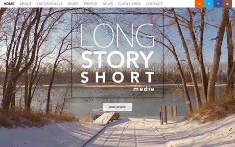 Screenshot of Home Page lssmedia.com - Long Story Short Media - Long Story Short Media Home - Long Story Short Media - captured Jan. 31, 2016