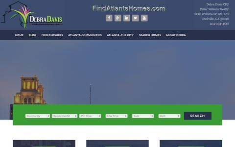 Screenshot of Home Page findatlantahomes.com - Home - - captured Oct. 6, 2014