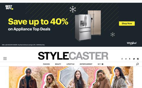 Screenshot of Home Page stylecaster.com - Style News and Trends | StyleCaster - captured Nov. 7, 2018