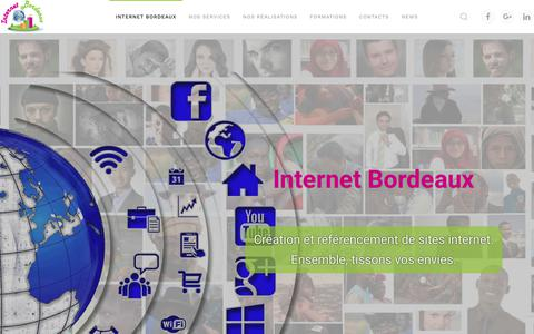 Screenshot of Home Page site-internet-bordeaux.net - Internet Bordeaux - Création de sites internet - Référencement . - Internet Bordeaux -Création de sites - Référencement - Formations. - captured March 13, 2018