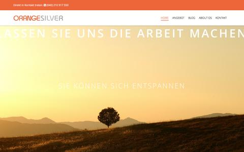 Screenshot of Home Page orange-silver.de - Webdesign aus Hamburg - Orange Silver - captured Jan. 22, 2017