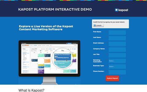 Kapost Platform Interactive Demo