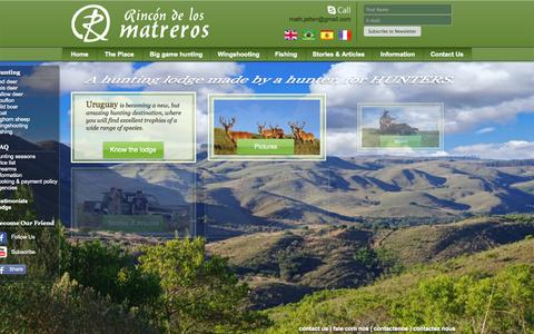 Screenshot of Testimonials Page rincondelosmatreros.com - Rincón de los Matreros - captured Sept. 24, 2015