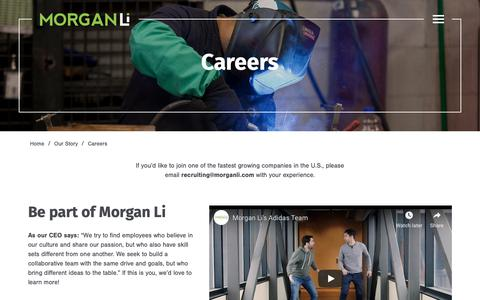 Screenshot of Jobs Page morganli.com - Careers - Morgan Li - captured Dec. 10, 2018