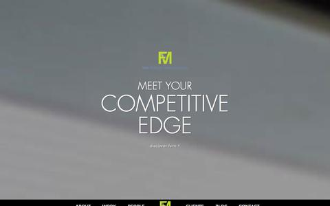 Screenshot of Home Page thinkfvm.com - FVM | B2B Marketing and Advertising Agency in Philadelphia - captured Oct. 6, 2014