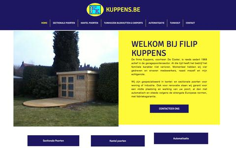 Screenshot of Home Page kuppens.be - Kalken Poorten Kuppens, Poorten Kuppens - captured Jan. 28, 2018
