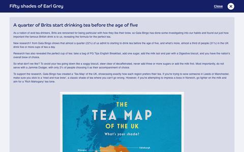 Screenshot of Press Page galabingo.com - Fifty shades of Earl Grey - Gala Bingo - captured July 27, 2016