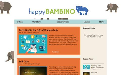 Screenshot of Blog happybambino.com - happy-bambino   Blog - captured May 15, 2017