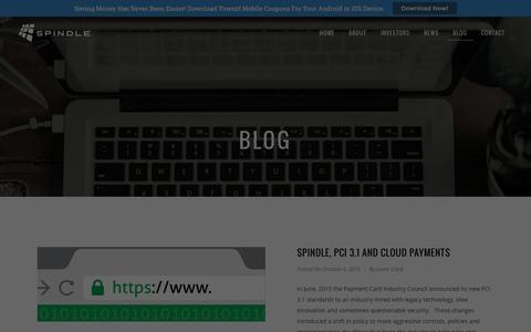 Screenshot of Blog spindle.com - Spindle | Blog - captured Jan. 18, 2016