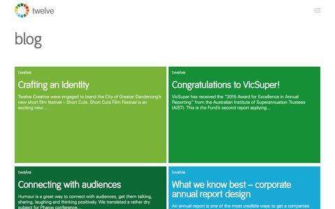 Screenshot of Blog twelvecreative.com.au - Business Branding Blog, Corporate Design News & Articles - captured Aug. 16, 2016