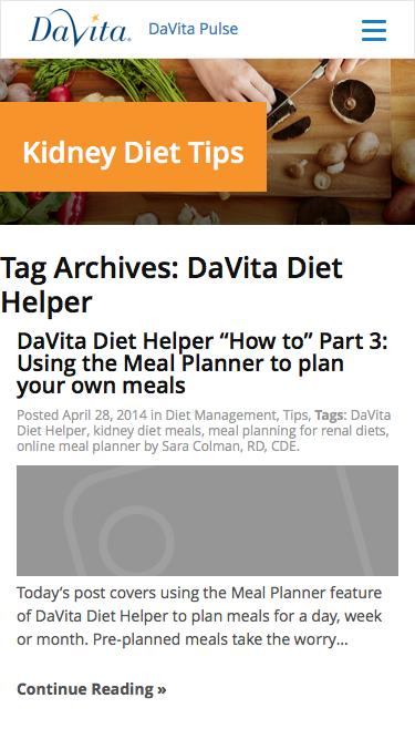 DaVita Diet Helper Archives - Kidney Diet Tips
