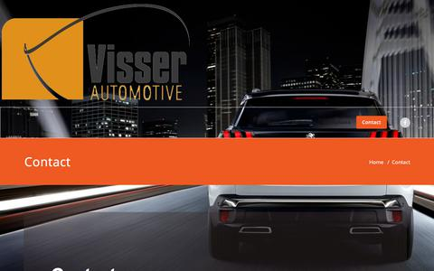 Screenshot of Contact Page visserautomotive.nl - Contact – Visser Automotive - captured Sept. 20, 2018