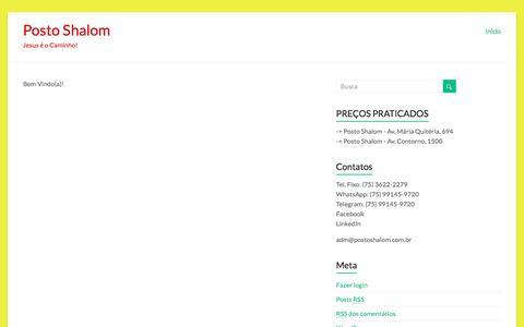 Screenshot of Home Page postoshalom.com.br - Posto Shalom – Jesus é o Caminho! - captured July 15, 2016
