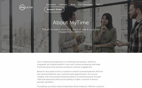 Screenshot of About Page mytime.com - About Us | MyTime - captured Jan. 17, 2018