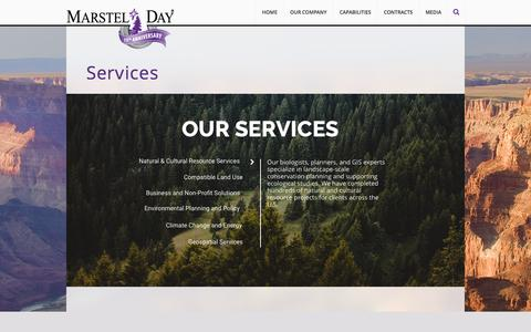 Screenshot of Services Page marstel-day.com - Services | Marstel-Day - captured Nov. 27, 2016