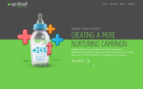 Screenshot of Home Page spit-ball.com - Spitball - NJ Creative Ad Agency - Branding, Advertising, Digital, Social Marketing - captured July 28, 2018