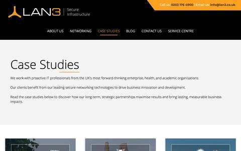 Screenshot of Case Studies Page lan3.co.uk - LAN3 Case Studies - captured Dec. 13, 2018