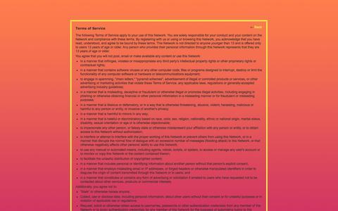 Screenshot of Terms Page nexusinternational.jp - Terms of Service - TokyoGAF - captured Oct. 6, 2014
